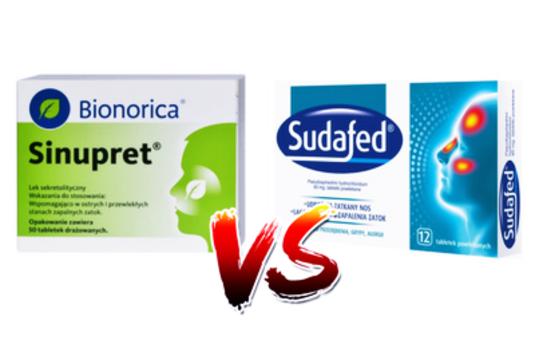 Sinupret vs Sudafed – jak udrożnić nos przy zapaleniu zatok?