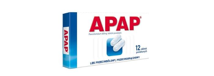 Apap tabletki przeciwbólowe