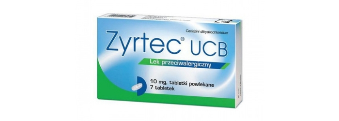 Zyrtec UCB lek na alergię