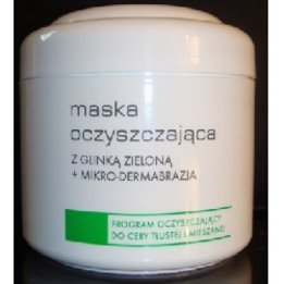 Maska oczyszczająca z glinką zieloną + mikrodermabrazja