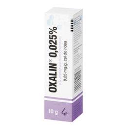 Oxalin 0.025% żel do nosa