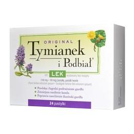 Original Tymianek i Podbiał lek na ból gardła