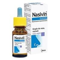 Nasivin 0,025% krople do nosa
