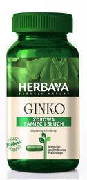 Herbaya Ginkgo Biloba dobra pamięć i słuch kapsułki