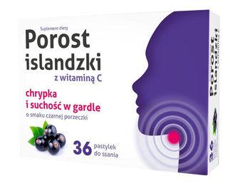 Porost islandzki z witaminą C pastylki do ssania