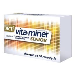 Acti Vita-miner Senior tabletki - multiwitaminowy suplement diety dla osób w wieku 50+