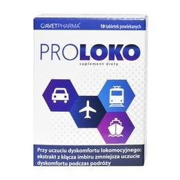 ProLoko tabletki suplement diety na chorobę lokomocyjną