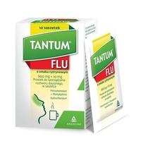 Tantum Flu smak cytrynowy saszetki lek na przeziębienie i grypę