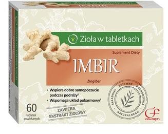 Imbir - Zioła w tabletkach