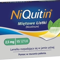 NiQuitin Miętowe Listki 2,5mg